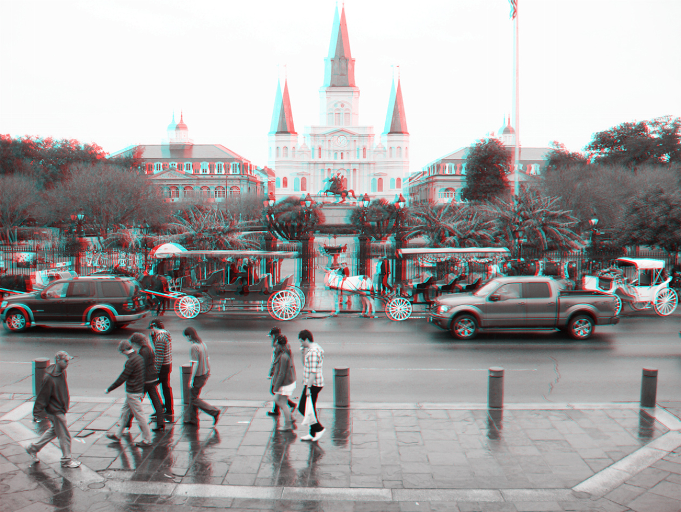 ParallaxCity.com: Jackson Square, New Orleans, 2010.12.17